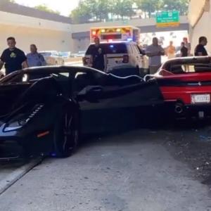 У США під час благодійного шоу сталася серйозна аварія за участю трьох Ferrari: відео