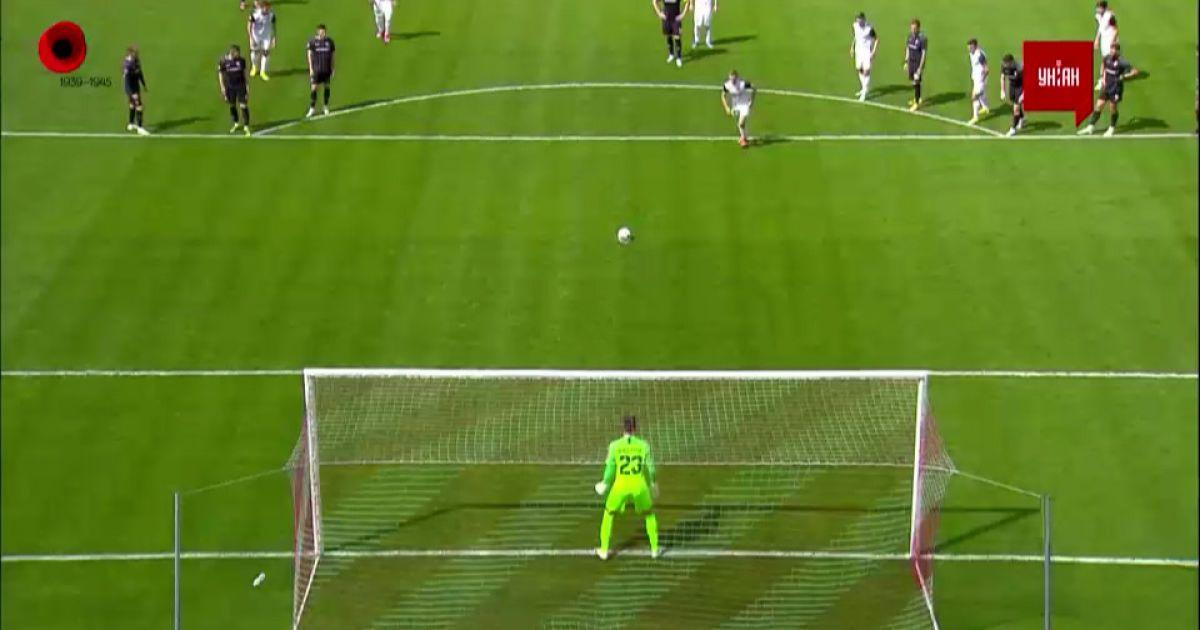 Заря - Александрия - 0:0. Видео незабитого гола с пенальти
