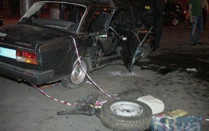 В Киеве иномарка влетела в легковушку милиции: есть пострадавшие