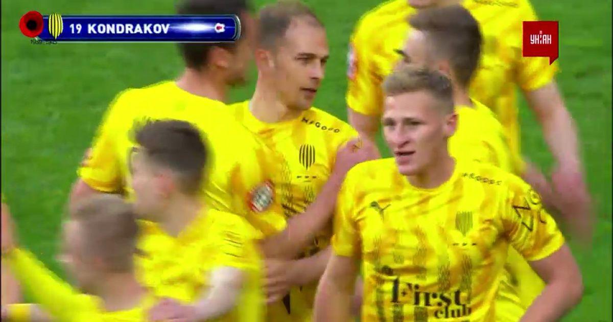 УПЛ   Чемпионат Украины по футболу 2021   Днепр-1 - Рух -1:1. Видео гола Даниила Кондракова (96`)