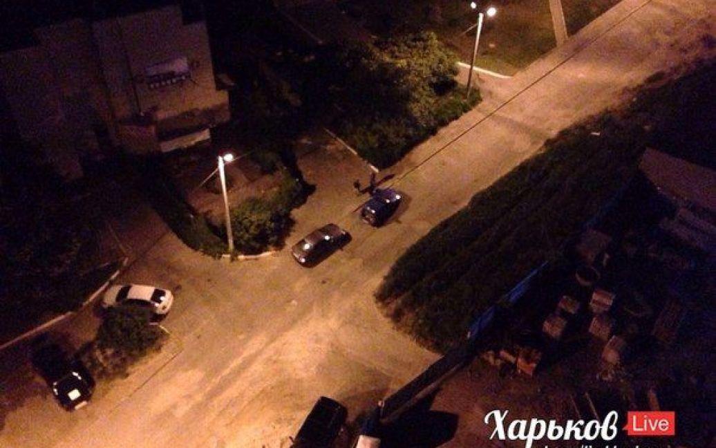 Машины, которые пострадали от нападавших. / © ВКонтакте/Харьков live