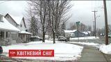 Американский штат Висконсин засыпало снегом посреди весны