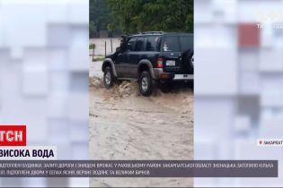 Новини України: у Рахівському районі Закарпатської області негода затопила села і знищила врожаї