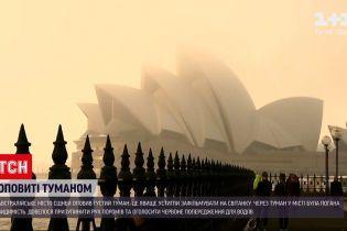 Новости мира: австралийский Сидней утром окутал густой туман