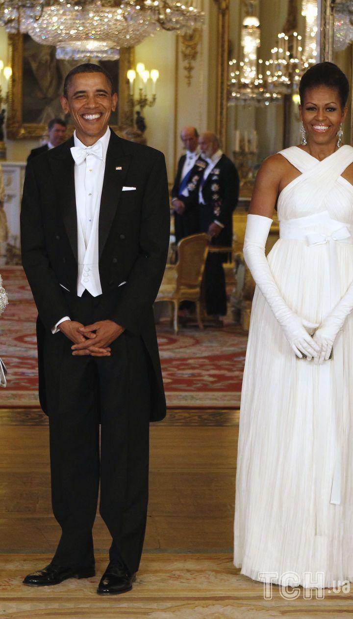Президент Барак Обама, перша леді Мішель Обама, королева Єлизавета II і принц Філіпп в Букінгемському палаці, 18 листопада 2016 року / © Associated Press