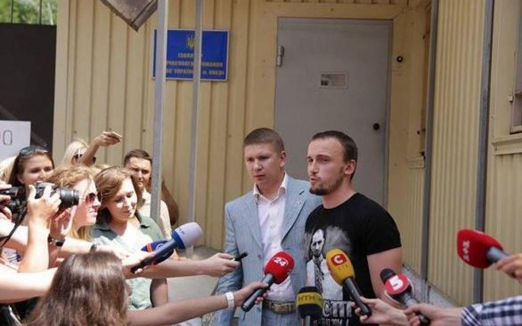 Полищук вышел из СИЗО / © Громадське.TV/Косс Казимко