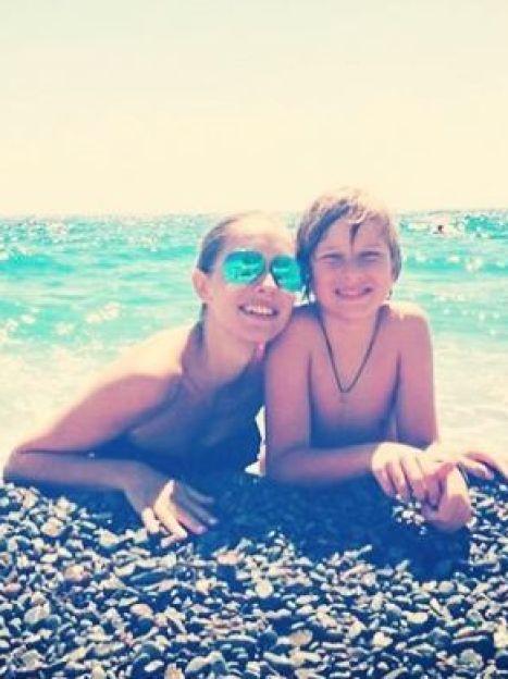 Катя Осадчая с сыном Ильей / © Instagram