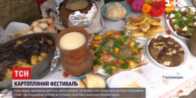 Картофельные бабки, ватрушки и колбасы: в Житомирской области участники фестиваля удивляли рецептам
