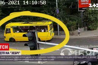 Новини України: у центрі Львова дівчину збила маршрутка