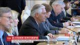 В Кремле продолжаются переговоры Путина с Тиллерсон и Лавровым
