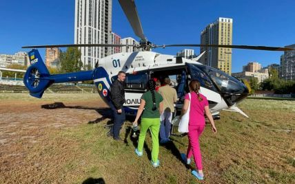 Со Львова в Киев вертолетом срочно доставили младенца: ребенок в тяжелом состоянии (фото)