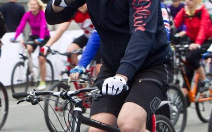 Кличко возглавил велозаезд ко Дню Киева
