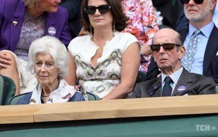 З ідеальним укладанням і в дорогоцінних сережках: 84-річна принцеса Олександра на Вімблдоні