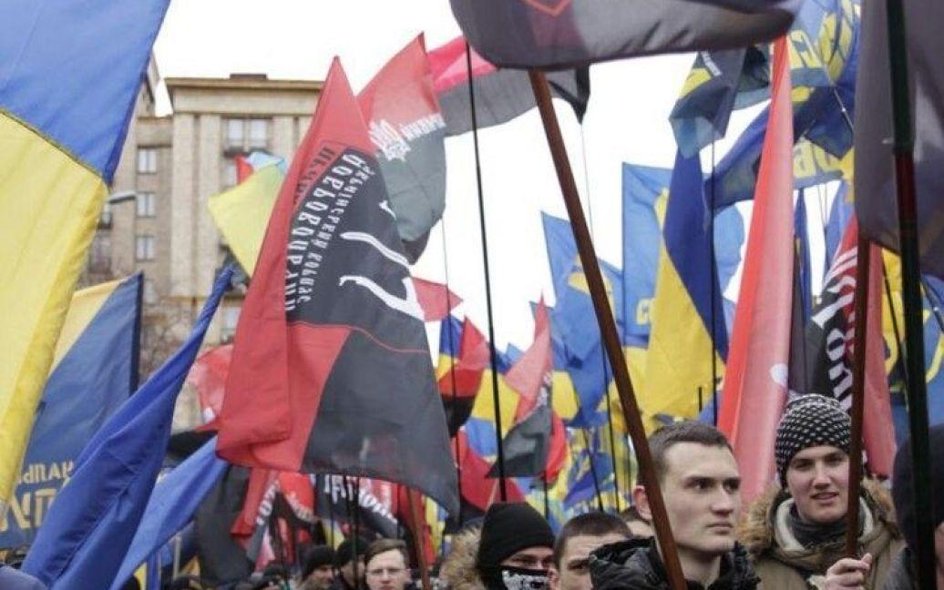 "Марш у Києві / © ВКонтакте/полк ""Азов"""
