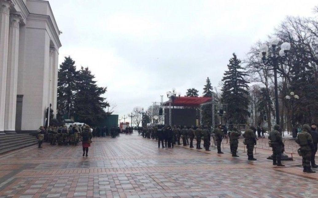 Нацгвардія під Радою / © Українська правда