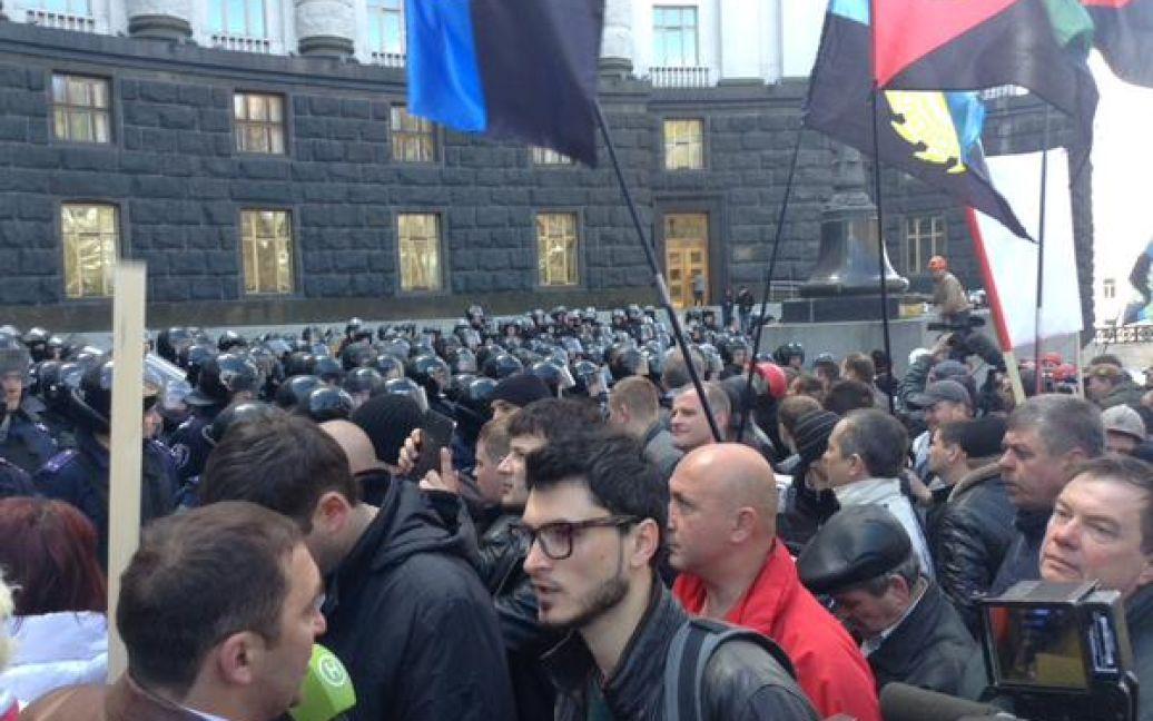 Шахтарі протестують під Радою / © twitter.com/ostro_v