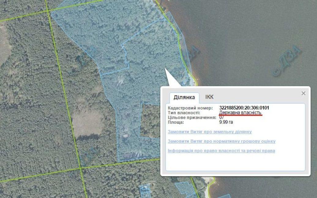 """Участок, на котором расположен особняк, в государственной собственности / © сайт """"Автомайдану"""""""