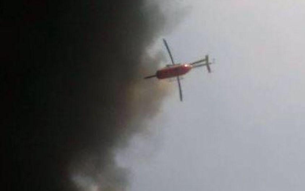 В небе появились вертолеты / © twitter.com/ukrpravda_news
