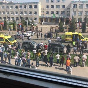 Стрельба в Казани: появилось первое видео изнутри школы
