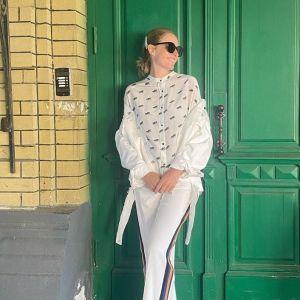 Вся в білому: вагітна Катя Осадча сходила на прогулянку улюбленим Києвом