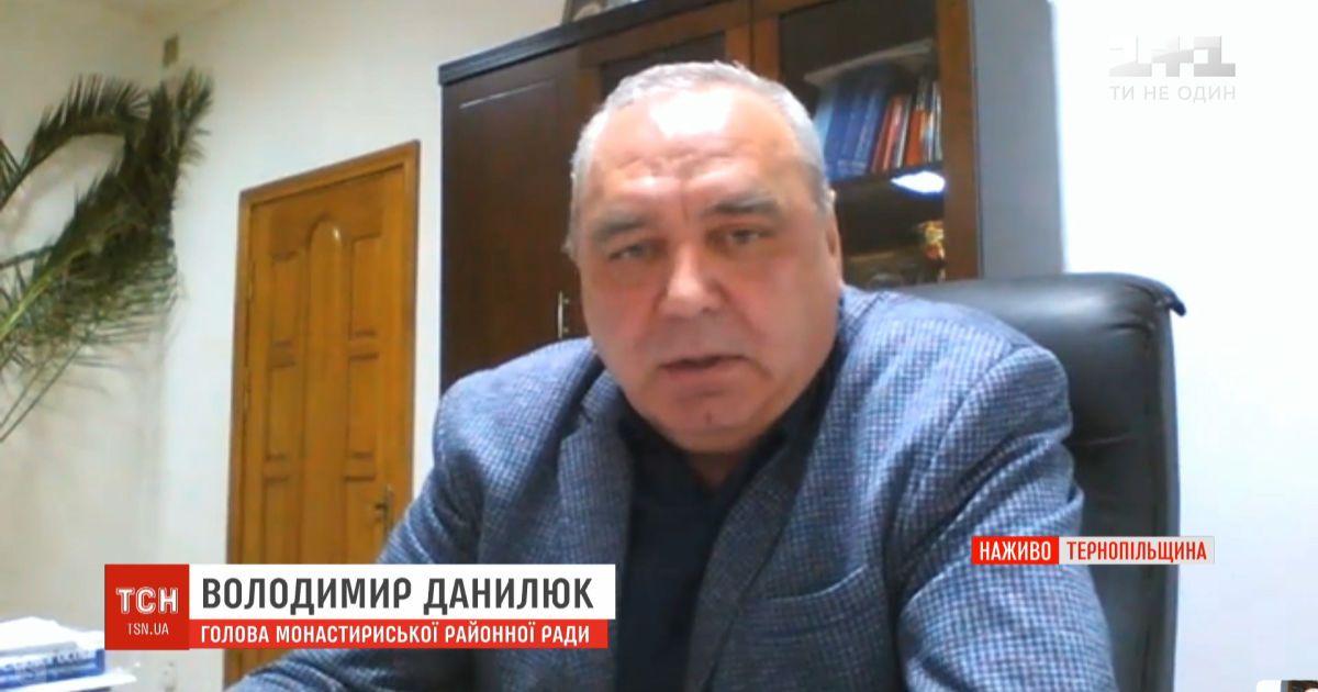 Председатель Монастыриского райсовета рассказал о ситуации с коронавирусом в Тернопольской области