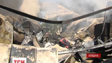 В Броварах сгорел склад строительных материалов