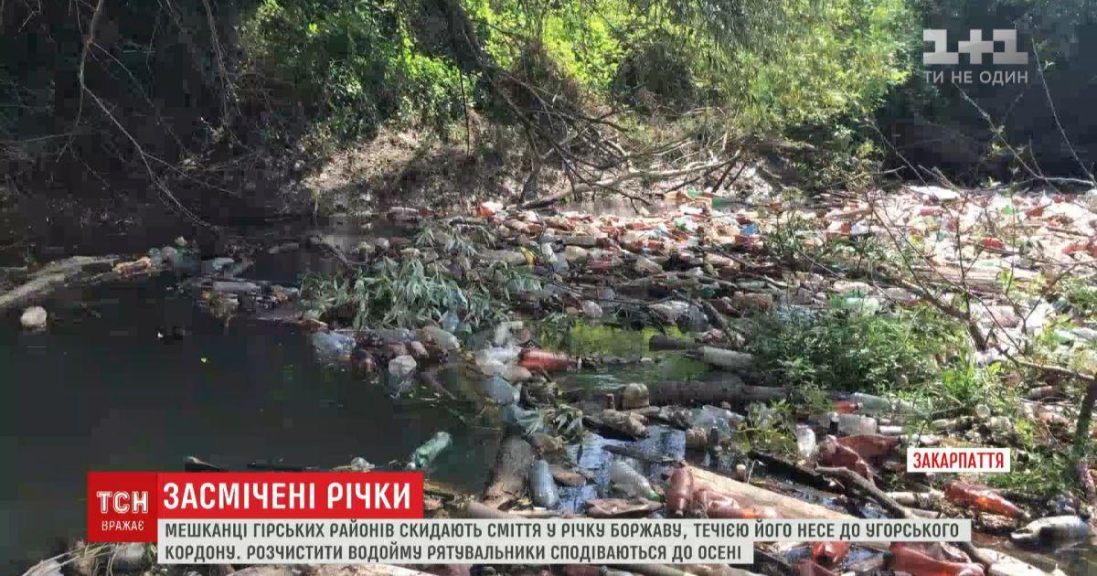 Мешканці гірських районів перетворили місцеву річку на смітник