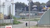 Остатки бензина на нефтебазе под Васильковом догорают