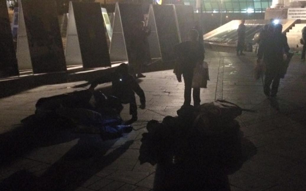 С Майдана исчезло несколько палаток / ©