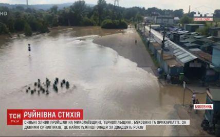 Паводок у Чернівцях: рівень води почав поступово спадати
