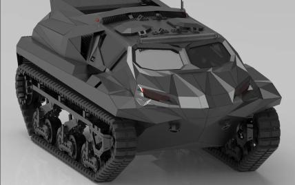 Украинцы создали первый в мире военный электромобиль-амфибию