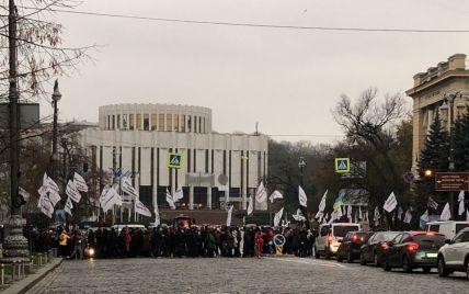 В центре Киева митингующие заблокировали движение по улице Грушевского: появилось видео