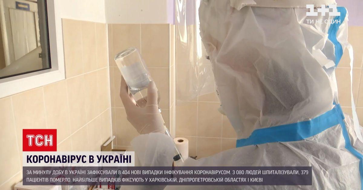 Коронавірус в Україні: за останню добу позитивні тести отримали майже 8,5 тисяч людей