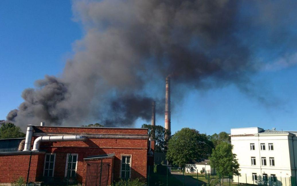 В Эстония произошел пожар на химзаводе / © postimees.ee