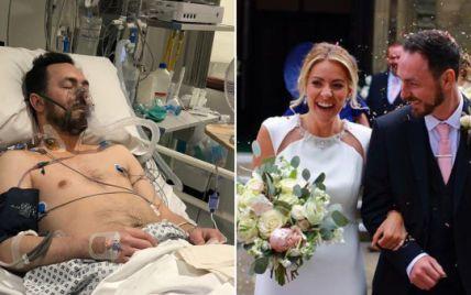 Британец пережил сердечный приступ и женился на невесте, которая спасла ему жизнь во время локдауна: трогательная история (фото)
