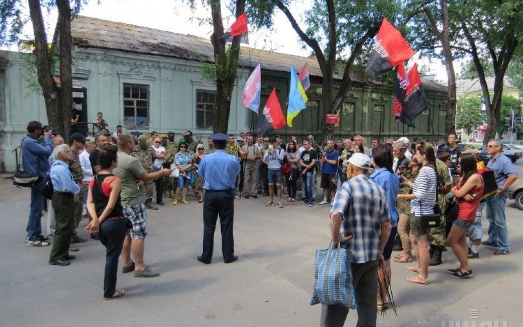"""Протест """"Правого сектора"""" в Мариуполе. / © УНИАН"""