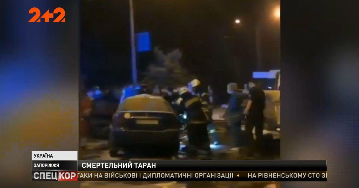 Взрыв прямо на дороге: в Запорожье произошла огненная ночная авария