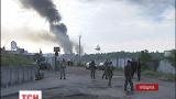 Резервуары на нефтебазе под Киевом до сих пор горят