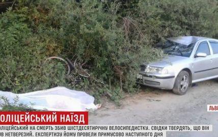 Полицейский, который насмерть сбил велосипедистку на Львовщине, был пьян – очевидцы