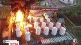 В милиции рассматривают три версии возникновения пожара на нефтебазе