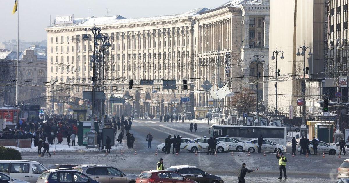 Перекрыты улицы в центре Киева / © УНИАН