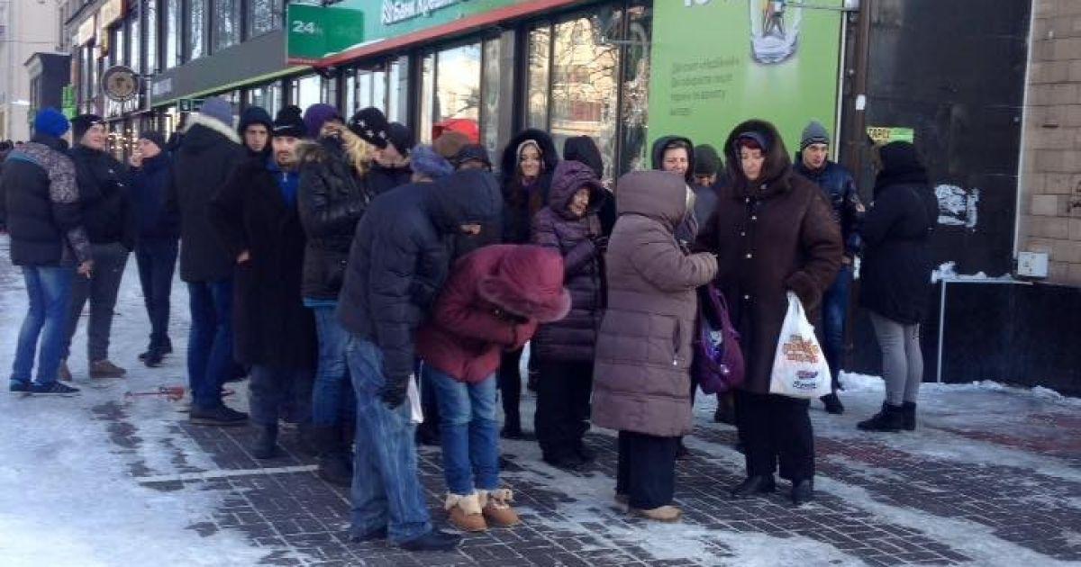 Организованная колонна митингующих / © facebook/Андрей Дзиндзя