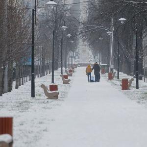У КМДА розповіли, скільки комунальників звільняли Київ від снігу вночі