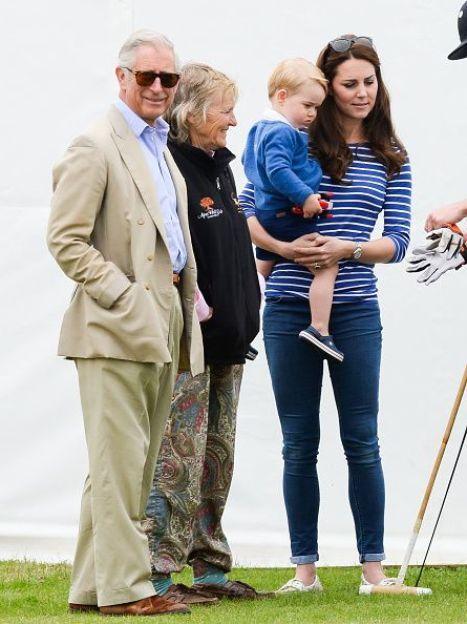 Герцогиня Кэтрин, принц Георг с дедом принцем Чарльзом / © Getty Images