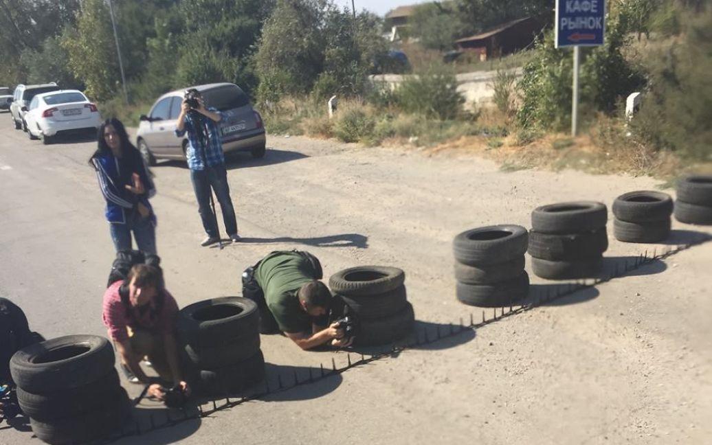 У Криму стартувала безстрокова блокада півострова. / © facebook.com/ayder.muzhdabaev