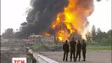 Нефтебаза под Киевом догорает