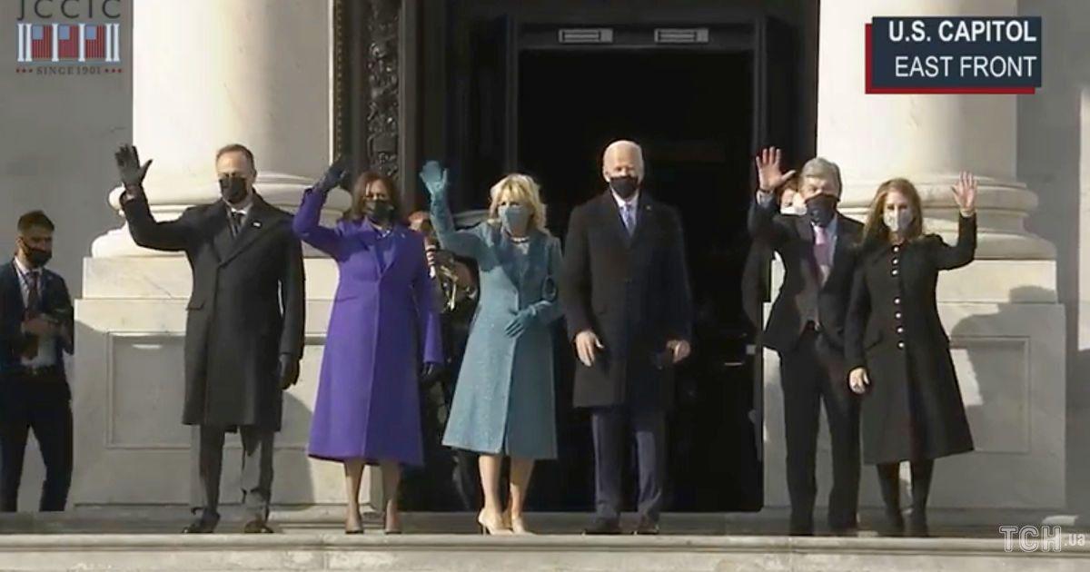 Джо и Джилл Байден, Камала Харрис и другие на инаугурации / © Getty Images