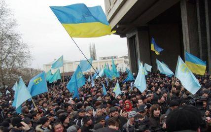 Порошенко нагадав, як три роки тому кримчани вийшли на марш за добу до анексії півострова Росією