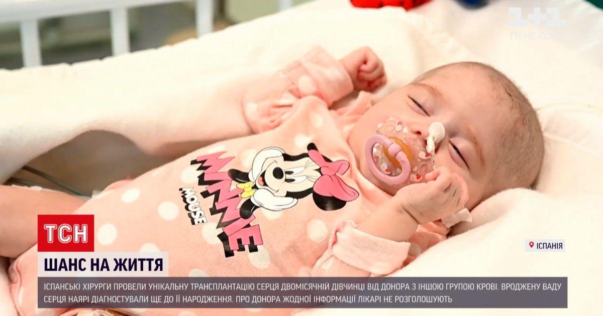Новини світу: іспанські хірурги провели унікальну трансплантацію серця двомісячній дівчинці