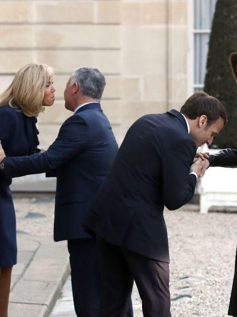 Королева Ранія, король Абдалла II, президент Франції Еммануель Макрон і перша леді Бріжит Макрон / © Associated Press